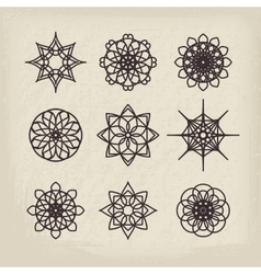 Circular Ornament Set vector image