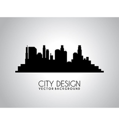 City design over gray background vector