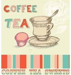 coffee tea menu vector image