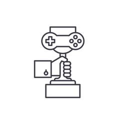 computer games championship line icon concept vector image