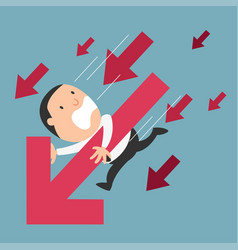 Concept of businessman failure vector