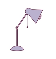 contour lamp of desktop adjustable in light purple vector image