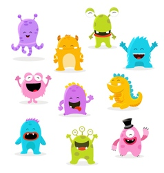 Cute Monster Set vector