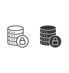 data security icon for graphic and web vector image