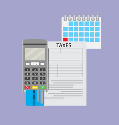 Day of payment of taxes vector
