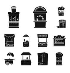Design tent and urban symbol set of vector