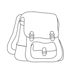 dotted shape school backpack education object vector image