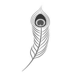Feather monochrome isolated icon vector