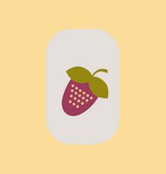 Flat icon on stylish background poker strawberry vector