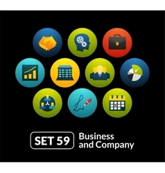Flat icons set 59 - business and company vector