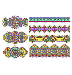 Floral ornamental pattern collection to fabric vector