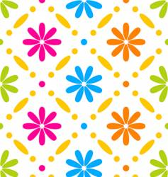 floral stitches vector image