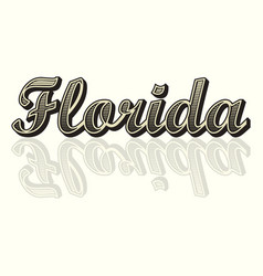 florida text background vector image