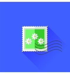 Flower Stamp Icon vector image