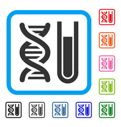 genetic analysis framed icon vector image