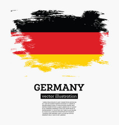 Germany flag with brush strokes vector