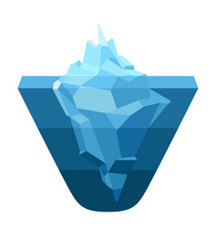 Glacier melting moving ice cube vector
