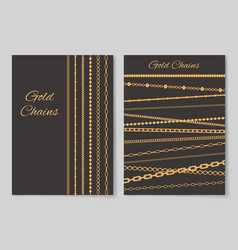 Gold chains collection cover vector