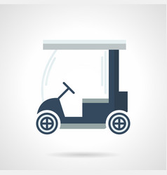 Golf cart flat color icon vector