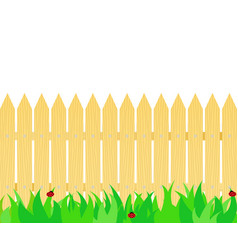 grass in front of the fence vector image