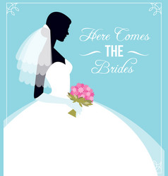 Here comes bride template flyer for the vector