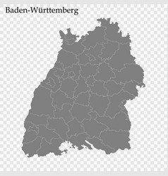High quality map is a state germany vector