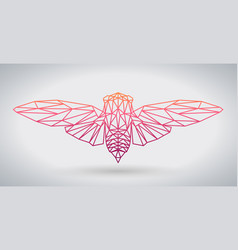 hipster polygonal animal butterfly or cicada vector image