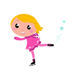 ice skating girl vector image