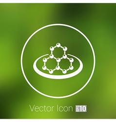 Icon molecular research chemistry medicine vector