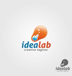 Idea lab logo template vector
