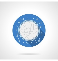 Immunology blue round flat icon vector