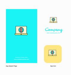 internet on laptop company logo app icon and vector image