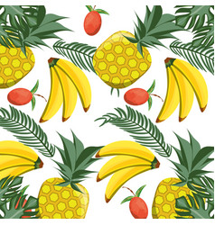 isolated fruits background vector image