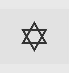 jewish star david icon six pointed stars symbol vector image