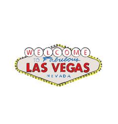 Las vegas city logo welcome greeting sign vector
