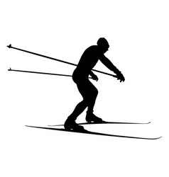Male athlete skier vector