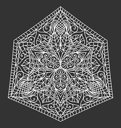 Mandala Decorative ornament element pattern Hand vector image