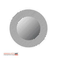 minimalistic art modern geometric design simple vector image