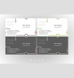 minimalistic business card templates set vector image