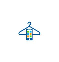 Mobile laundry logo icon design vector