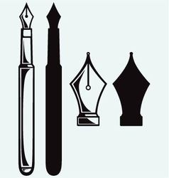 Old ink pen vector image