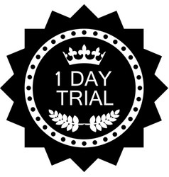one day trial icon vector image