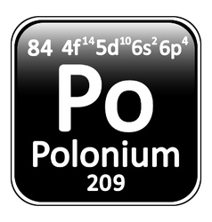 Periodic table element polonium icon vector image