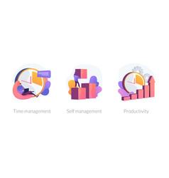 Personal growth concept metaphors vector