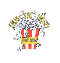 Popcorn and slogan vector