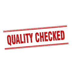 Quality checked stamp quality checked label vector