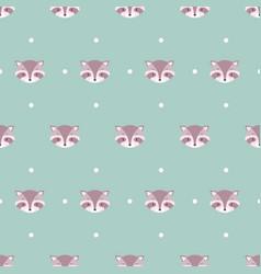 Raccoon cute ba animal seamless pattern vector