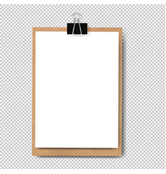 realistic clipboard isolated vector image