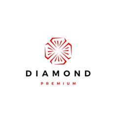 red diamond logo icon vector image