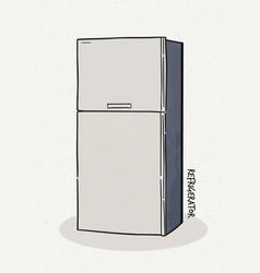 refrigerator a sketch style vector image